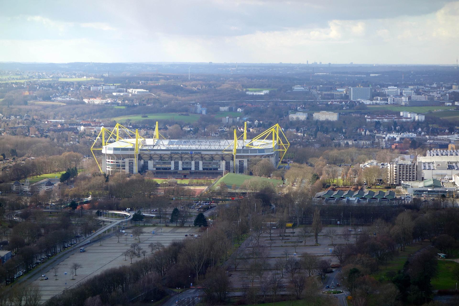 Zwiedzanie stadionów w Dortmundzie